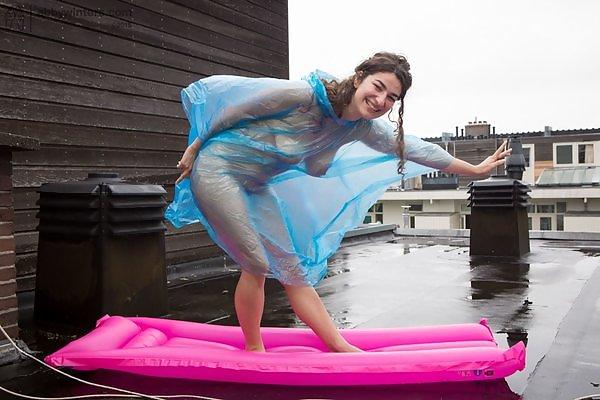 Livia V see-through rain poncho
