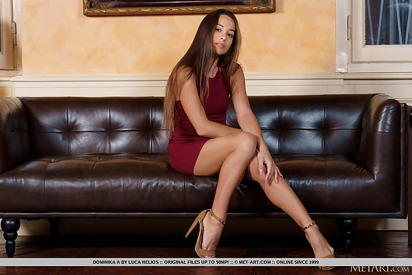 Dominika A in Leather Lounge by Luca Helios