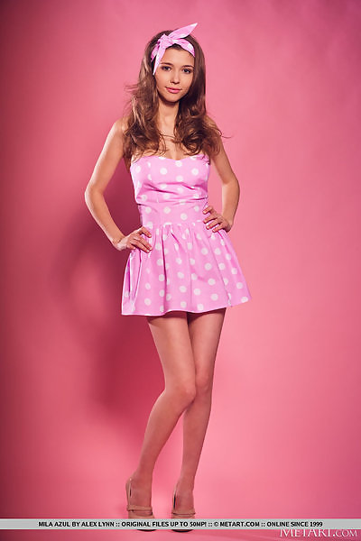 Mila Azul in Studio Pink by Alex Lynn