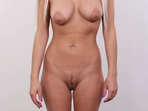 Casting pics of a tanned mature blonde with huge areolae
