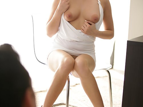 Blonde with big puffy nipples getting fucked