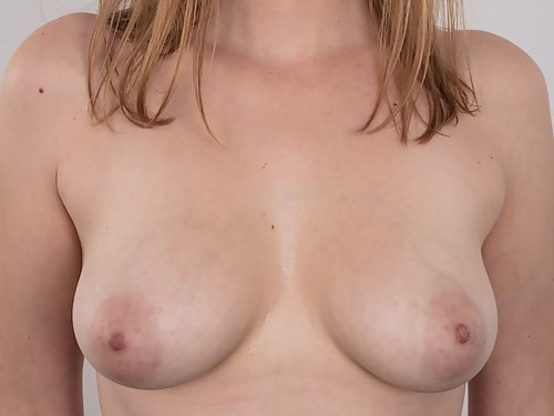 Casting pics of a mature amateur with large areolas