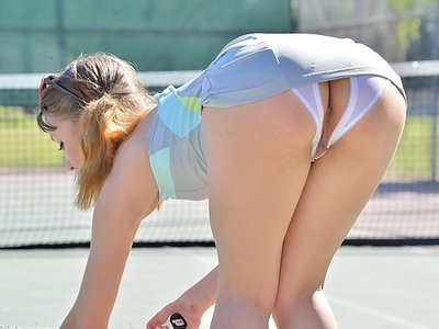 Aurora Belle getting kinky on the tennis court