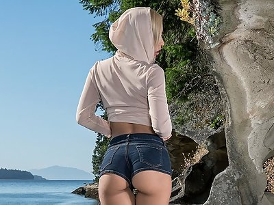 Demi Lopez in Toying Outdoors by In The Crack