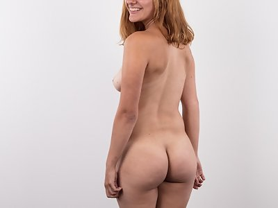 Casting pics of a shaved amateur with tan lines