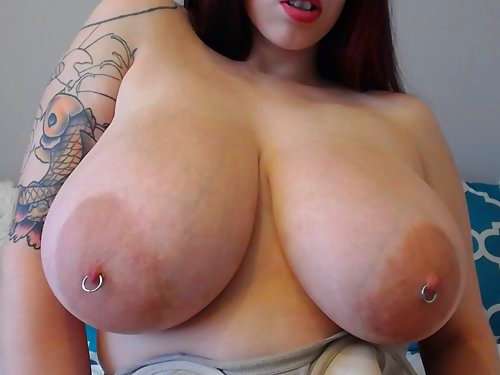 Nerdy girl with big tits and pancake areolas in pantyhose