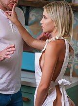 Sexy tattooed blonde getting fucked