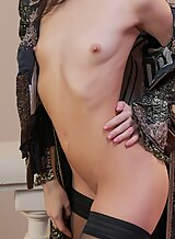 Flat-chested cosplay pirate babe getting fucked