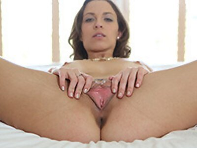 Busty brunette fucked and covered in cum