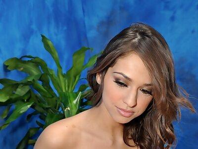 Horny brunette fucking her massage client