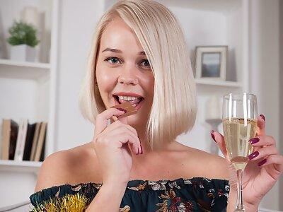 Busty blonde Sarika wishing you a happy new year