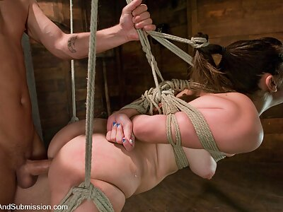 Submissive slut tied-up and fucked in the ass