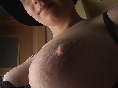 Huge tits in black lingerie