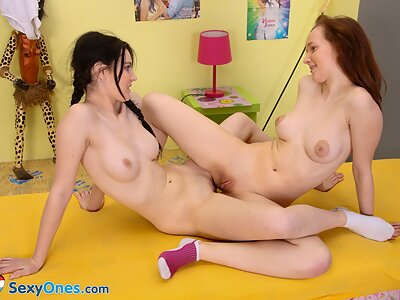 Lesbians teens licking and fingering each other