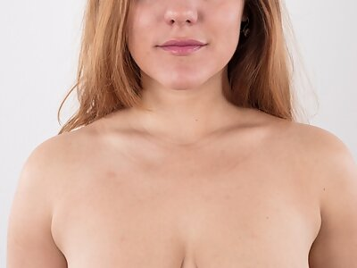 Casting pics of a shaved amateur with big saucer nipples
