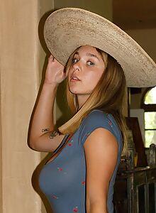 Blonde girl Gabbie carter shows off her insane tits