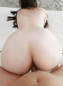 Chubby brunette with pierced nipples getting fucked