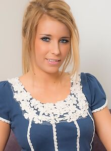 Tanned busty blonde with huge saucer areolas